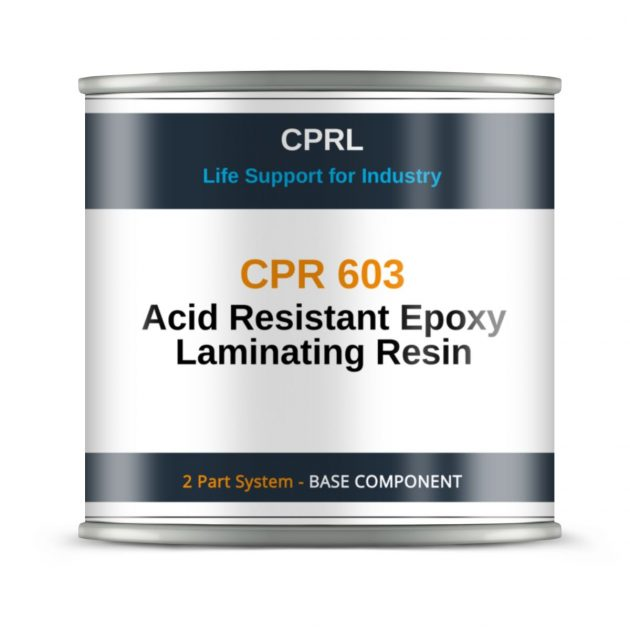 CPR 603 - Acid Resistant Epoxy Laminating Resin - Base