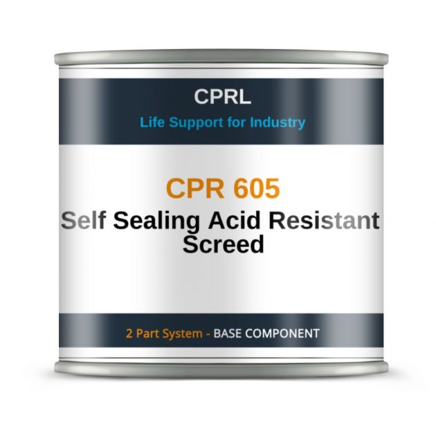 CPR 605 – Self Sealing Acid Resistant Screed - Base