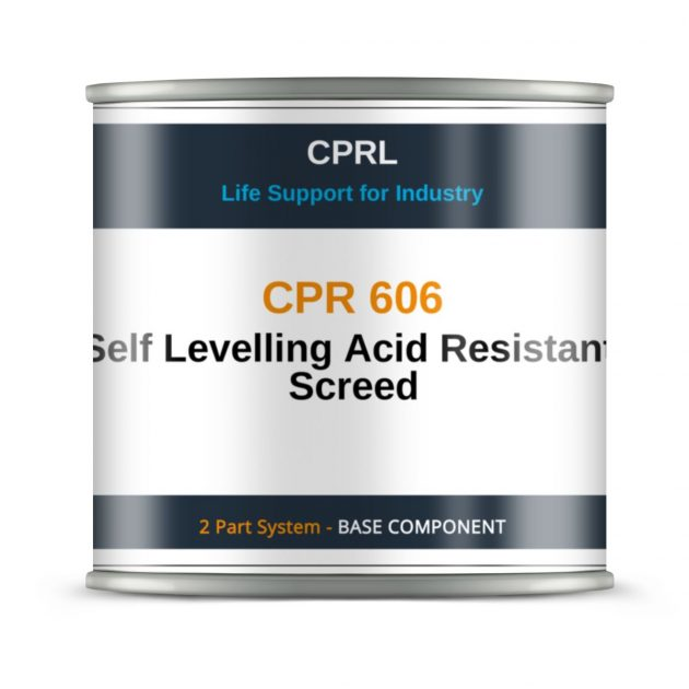 CPR 606 – Self Levelling Acid Resistant Screed - Base