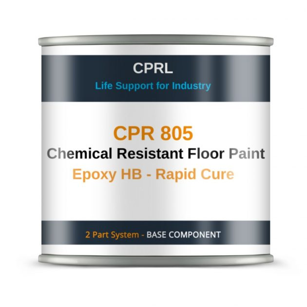 CPR 805 – Chemical Resistant Floor Paint – Epoxy HB – Rapid Cure - Base
