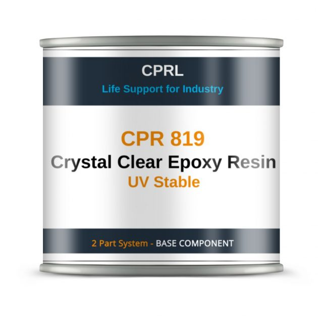 CPR 819 Crystal Clear Epoxy Resin - UV Stable - Base
