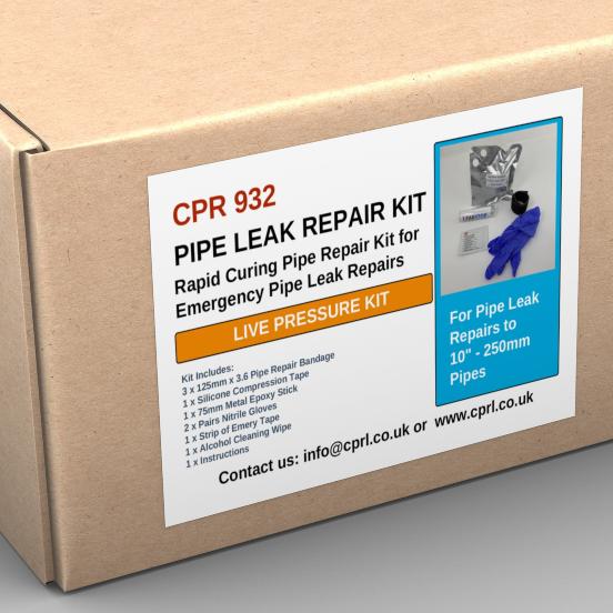 CPR932 - Pipe Leak Repair Kit - live leaks